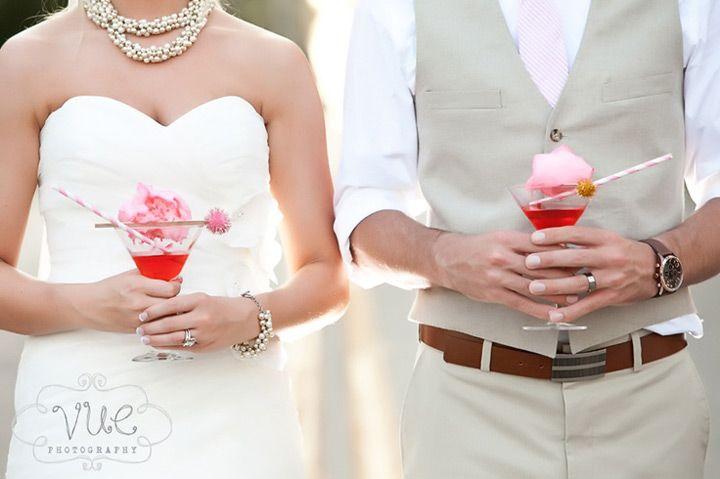Festa de casamento com algodão doce