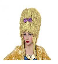 Peluca rubia de Mujer del Barroco con lazo. Peluca de Época rubia con lazo.