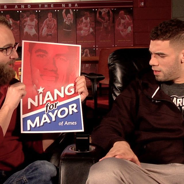 """Join Iowa Nice Guy, Scott Siepker, as he convinces former Cyclone All-American Georges Niang to overthrow Fred Hoiberg as """"the mayor"""" of Ames and heads out to campaign."""