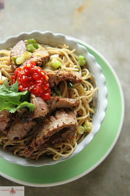 Ginger Scallion Noodles with Spicy Beef by Heather Christo, via www ...
