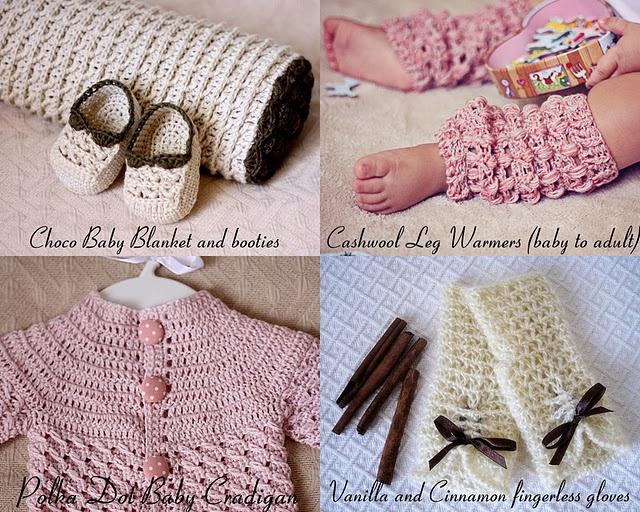 crochet patterns, baby, accessories