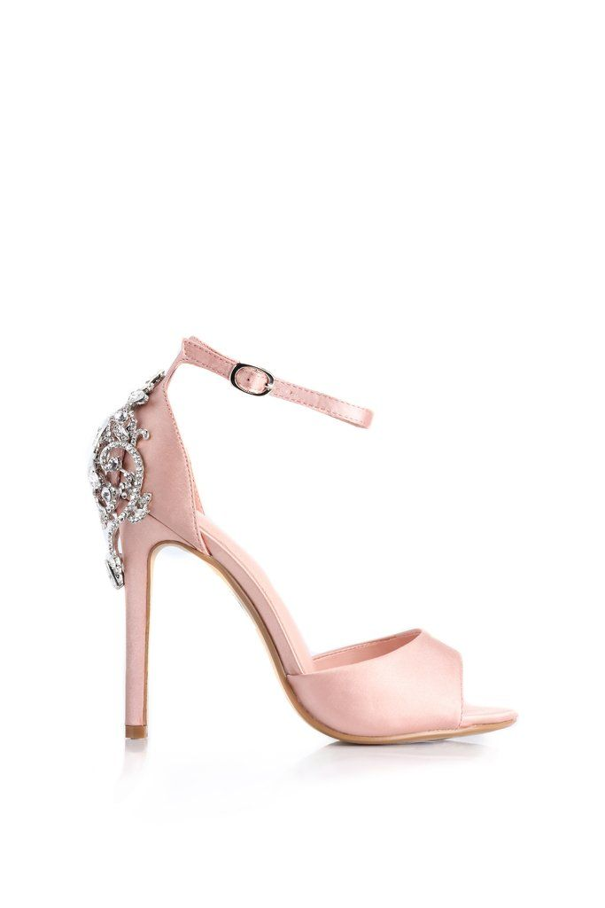62731516014 Aleema Jeweled Heel - Blush