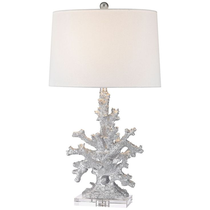 Dimond Trunk Bay Silver Faux Coral Table Lamp - Style # 9W347