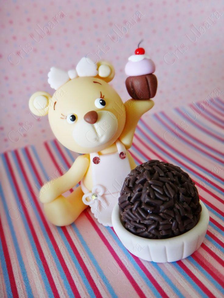 Cris Ubara - Biscuit para festas: Porta docinho Ursa