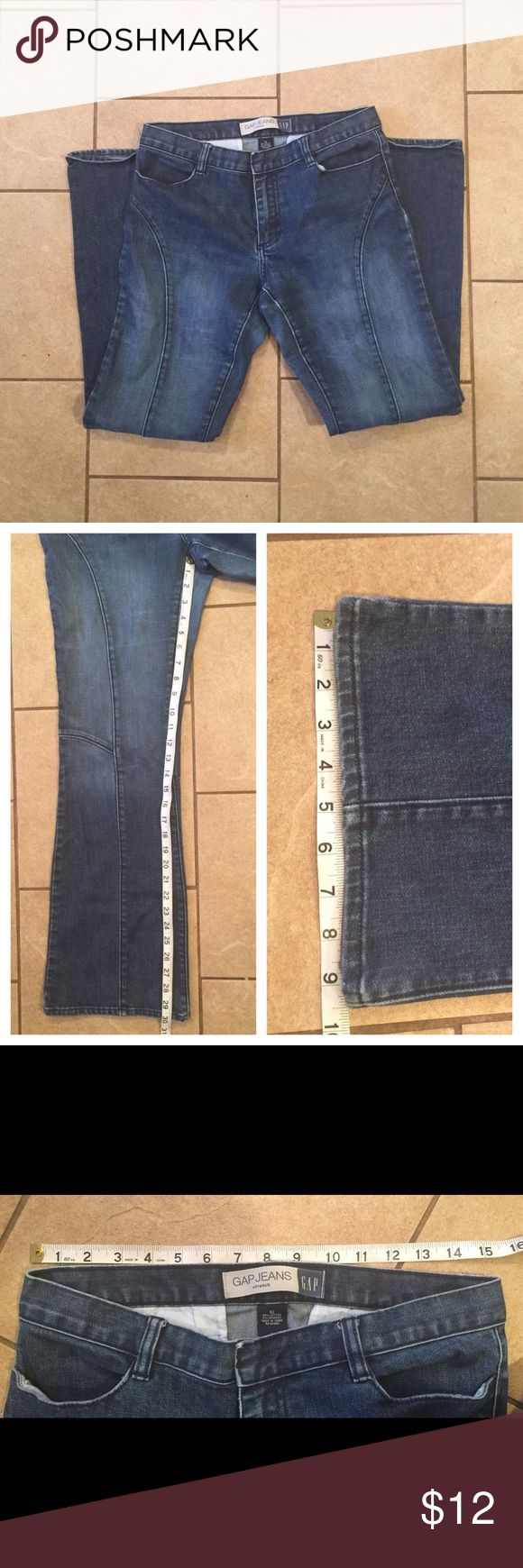 🎉DENIM SALE🎉Gap Trouser Jeans Size 10 Excellent condition 👌🏻, measurements as shown. GAP Jeans Flare & Wide Leg