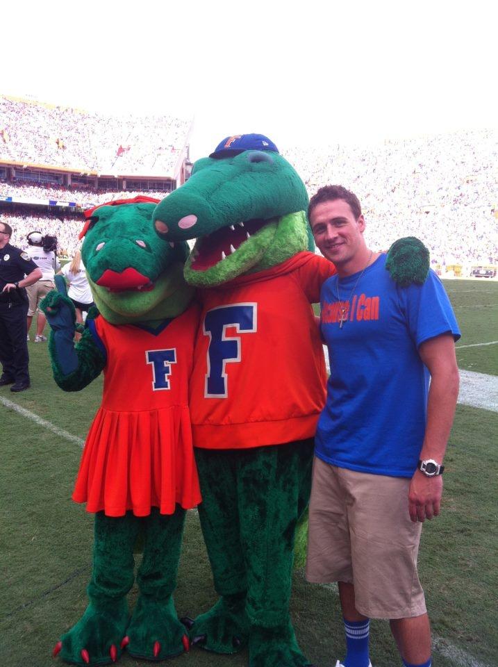 Albert and Alberta with Ryan Lochte Gator, Florida