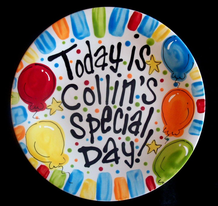 Brightly Painted Personalized 8 Inch Ceramic Special Day. SaveEnlarge · Birthday Plate ...  sc 1 st  Castrophotos & Birthday Plates Ceramic - Castrophotos