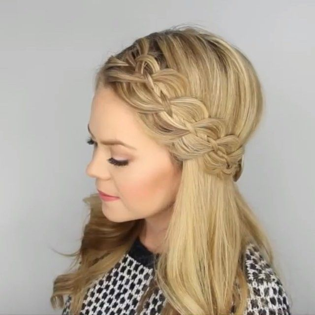 Four Strand Headband Braid Full YouTube tutorial link in my bio! #missysueblog