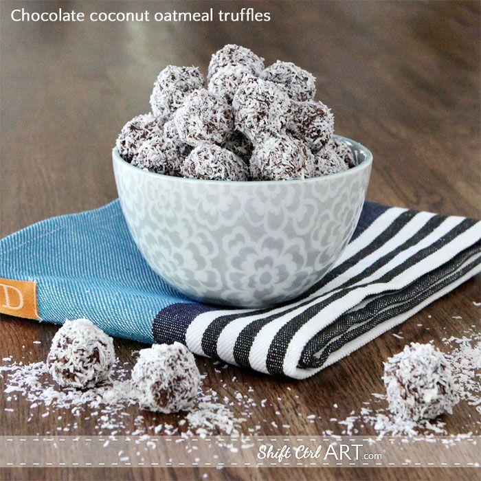 Chocolate Coconut Oatmeal truffles