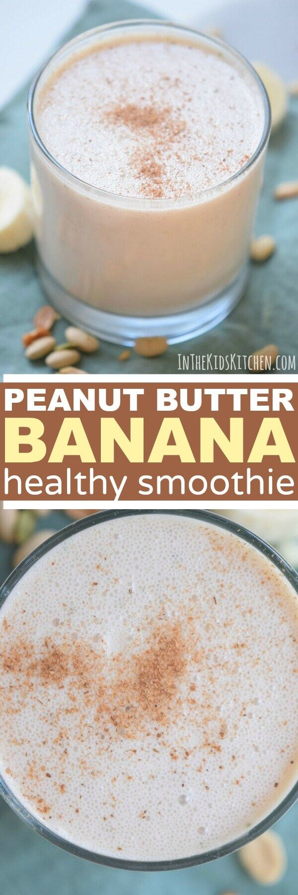 Healthy Peanut Butter Banana Smoothie - In the Kids' Kitchen