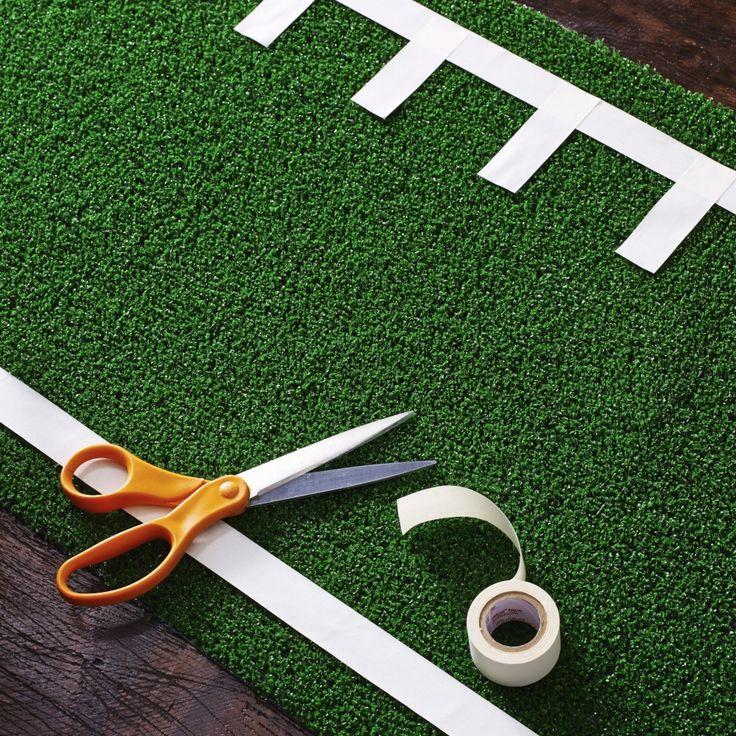DIY Football Party Table Runner