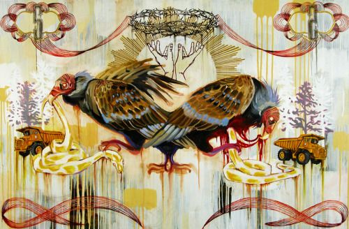 The Mixed Media Art of Hilary White  Hilary White was raised in Gainesville, Florida, and later spent a large part of her artistic career in Philadelphia. She received a portfolio scholarship to attend the Savannah College of Art and Design and...