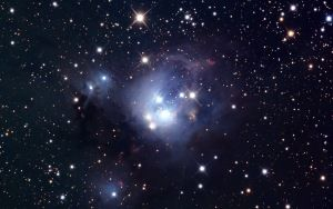 Preview wallpaper star cluster, ngc 7129, stars, space
