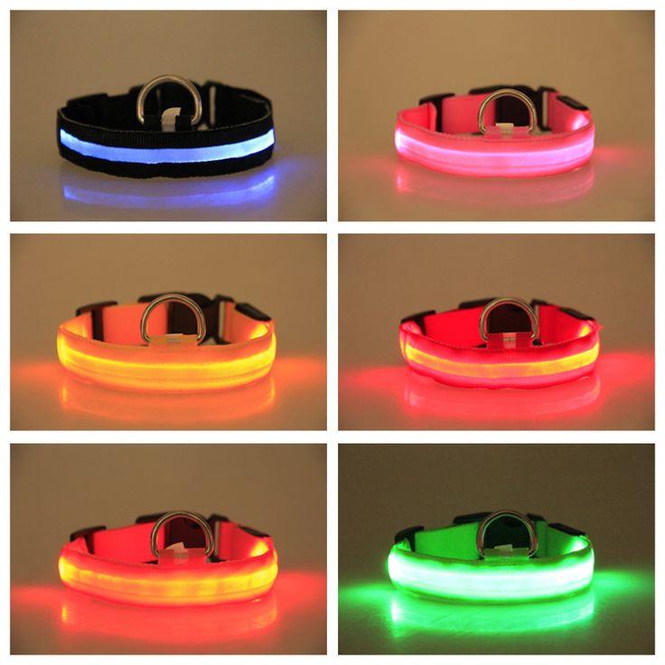 Nylon LED Dog Collar For Night Safety – LagoMart