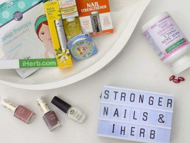 Getting Stronger Healthier Nails With Iherb Tea Nail Polish In 2020 Healthy Nails Strong Nails Holiday Themed Nails