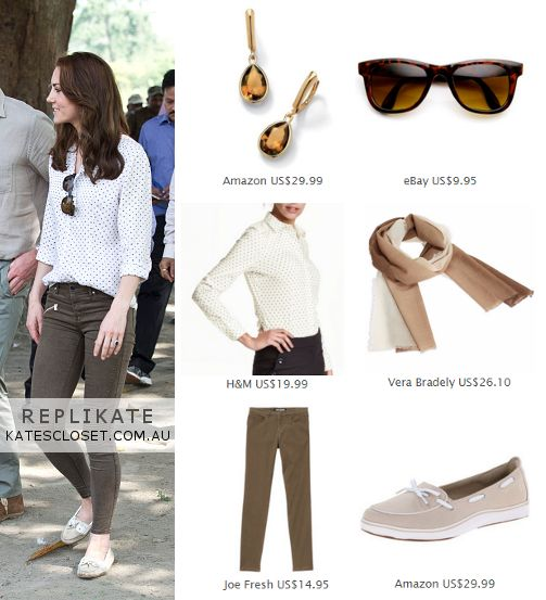 Kate Middleton, Duchess of Cambridge Outfit Inspiration. RepliKate the safari look for less! Click to shop the look