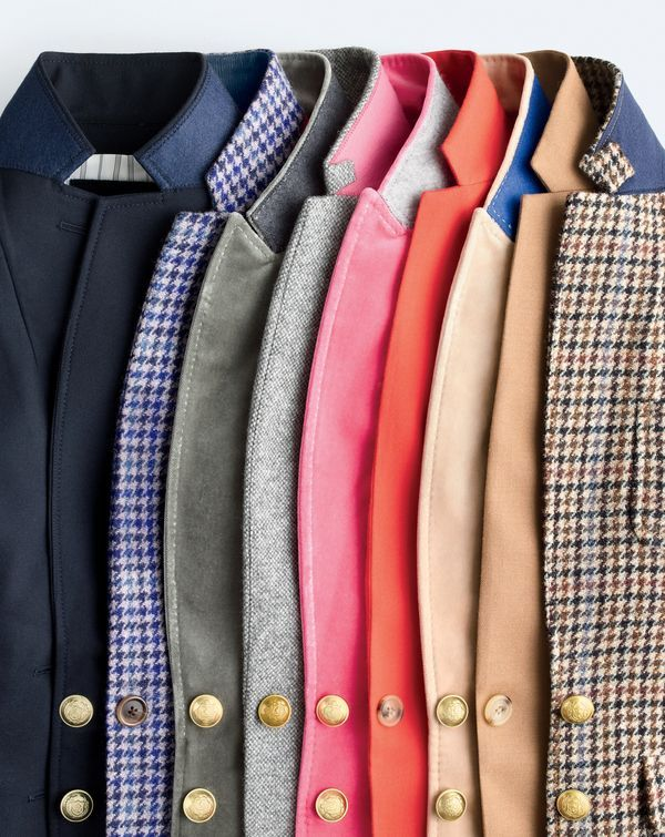 What we do at J.Crew: blazer season. 1992: Our very first blazer appeared in the autumn collection. Today: We kept all the good stuff (great fit, Italian fabrics, special details) and added lots more styles—like the Rhodes, Regent and Campbell.