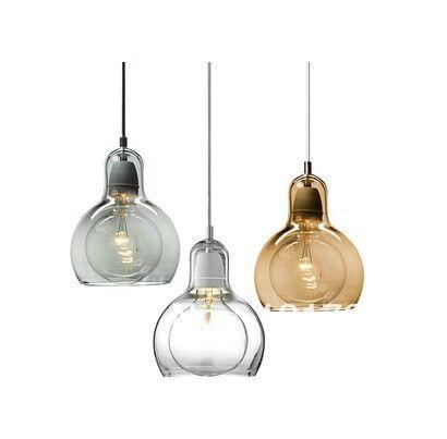 Bulb glazen hanglamp