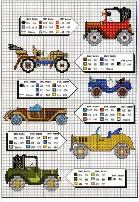 kanaviçe+arabalar.jpg (736×1069)
