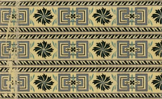 Bordure: Wallpaper by Manufacture Chapuy, 1799. National Library of France, Public Domain