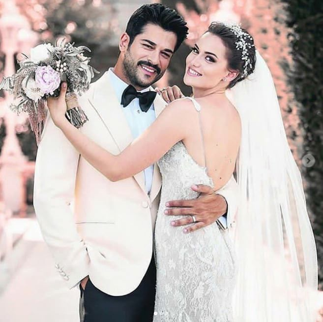 Fahriye Evcen ve Burak Özçivit | Düğün fotoğrafları, Gelin ...