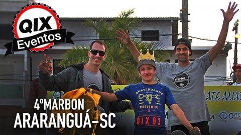 QIX no 4˚ Marbon de Skate em Araranguá - SC - http://DAILYSKATETUBE.COM/qix-no-4%cb%9a-marbon-de-skate-em-ararangua-sc/ - Diversão e boas manobras marcaram a quarta edição do Marbon de Skate Amador realizado na pista pública de skate no Centro de Araranguá, Santa Catarina. O evento organizado pela loja Marbon Skate Surf Shop reuniu diversas gerações em um campeonato animado e com bom nível de skate entre os skatistas  - Araranguá, Marbon, skate