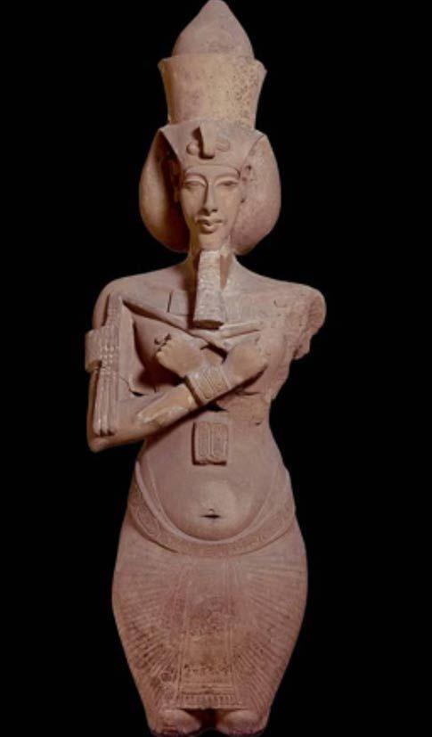 Akhenaten, 18th Dynasty, ca. 1353-1335 BCE. From the temple of Aton, Karnak, Egypt, Sandstone.