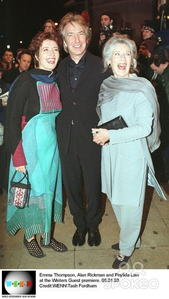 Alan Rickman and Emma Thompson and Phyllida Law ~~ 3 of my favourite people at the premiere of a lovely film, 'The Winter's Guest', 1998.