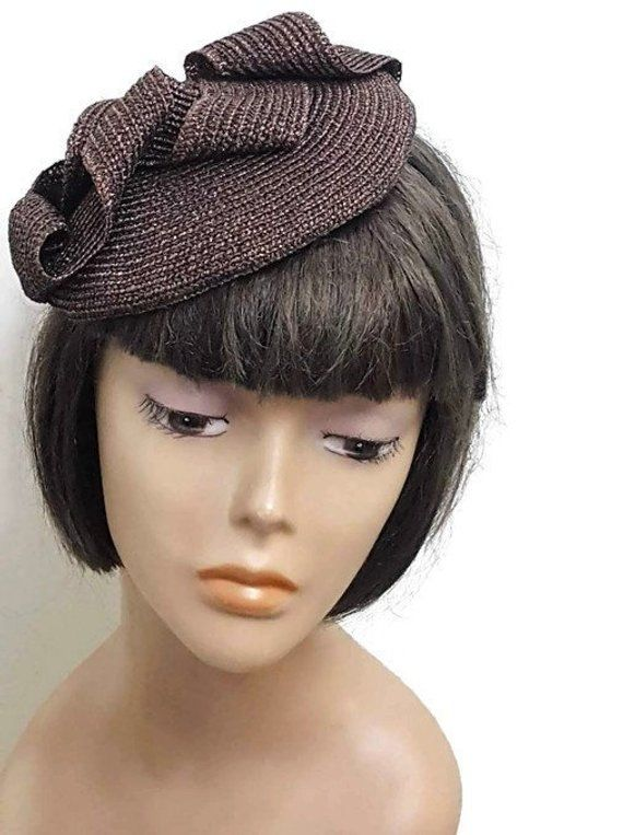 07c758950a9 Brown cocktail hat