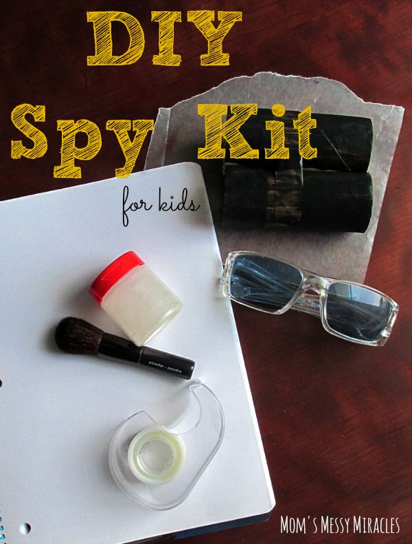 DIY Spy Kit for Kids - simple and easy with things already around the house!