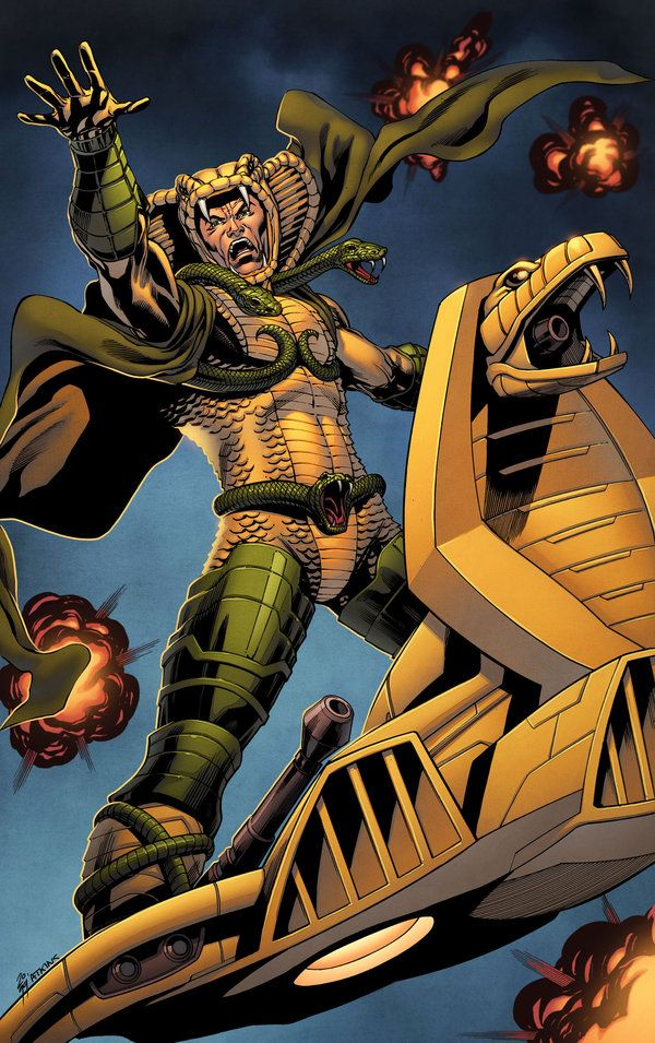 Serpentor, from Cobra. Drawn by Robert Atkins, colours by Simon Gough.