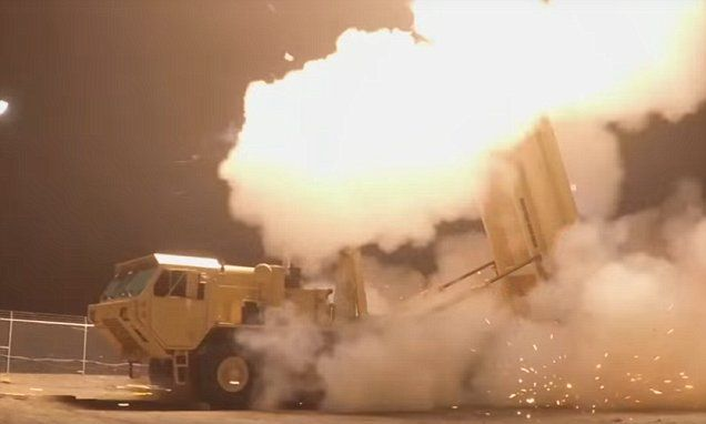 U.S. THAAD interceptor test shown in new video | Daily Mail Online