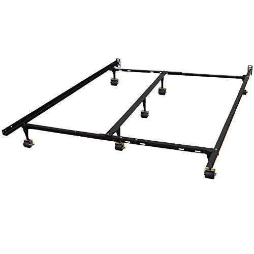 Special Offers - Hercules Universal de metal resistente ajustable Estructura de cama con doble carril Center Bar y 7-Locking Alfombra Rodillos Queen / Twin / Doble X-Large / Completo / Full X-Large / rey / California King Negro - In stock & Free Shipping. You can save more money! Check It (March 25 2016 at 09:55AM)…
