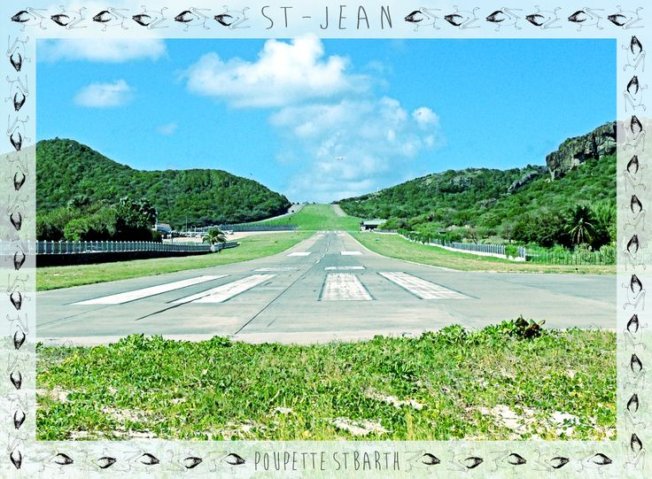 Exotic St Jean airport, St Barth.