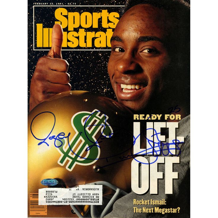 Steiner Rocket Ismail Signed 2/25/1991 Sports Illustrated Magazine