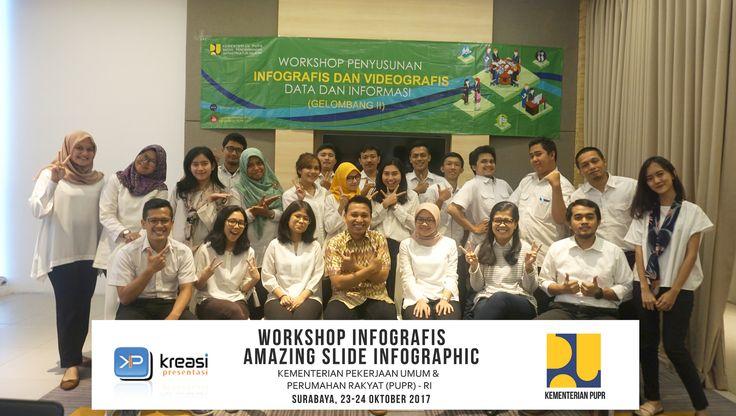 Workshop Infografis bersama Kementerian Pekerjaan Umum & Perumahan Rakyat.