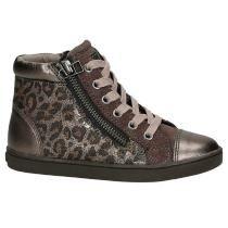 Newblue Roze Hoge Sneakers met Dierenprint