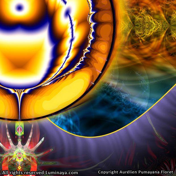 Original Mandala Ajna Chakra Chakra du troisième oeil par Pumayana