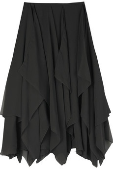 Michael Kors Chiffon Handkerchief Skirt. Perfect Spring staple in any color.