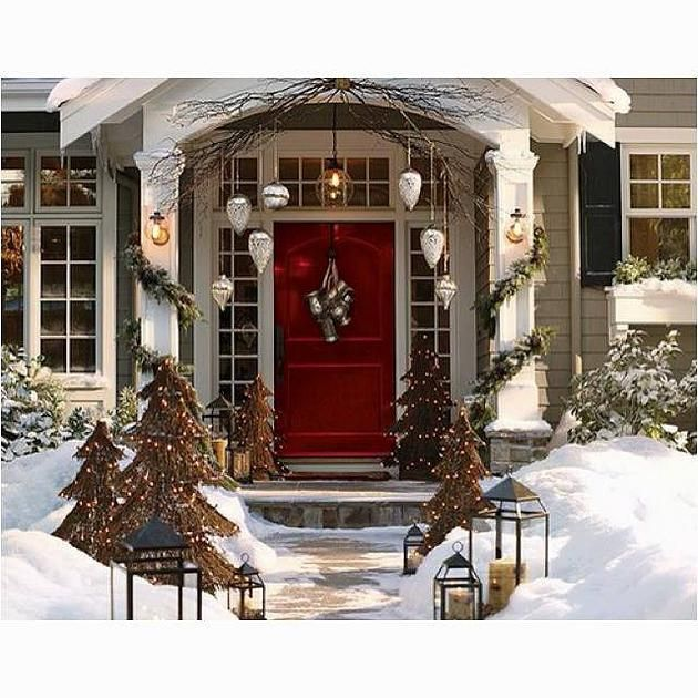 Perfect Tips On How To Create A Great Christmas Outdoor Front Entrance To Your  Home. # Photo