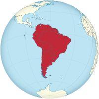 Südamerikas auf einer Weltkarte  Fläche17.843.000 km² Bevölkerung418 Millionen Bevölkerungsdichte23,4 Einwohner/km² Länder19 (davon 13 selbständig)