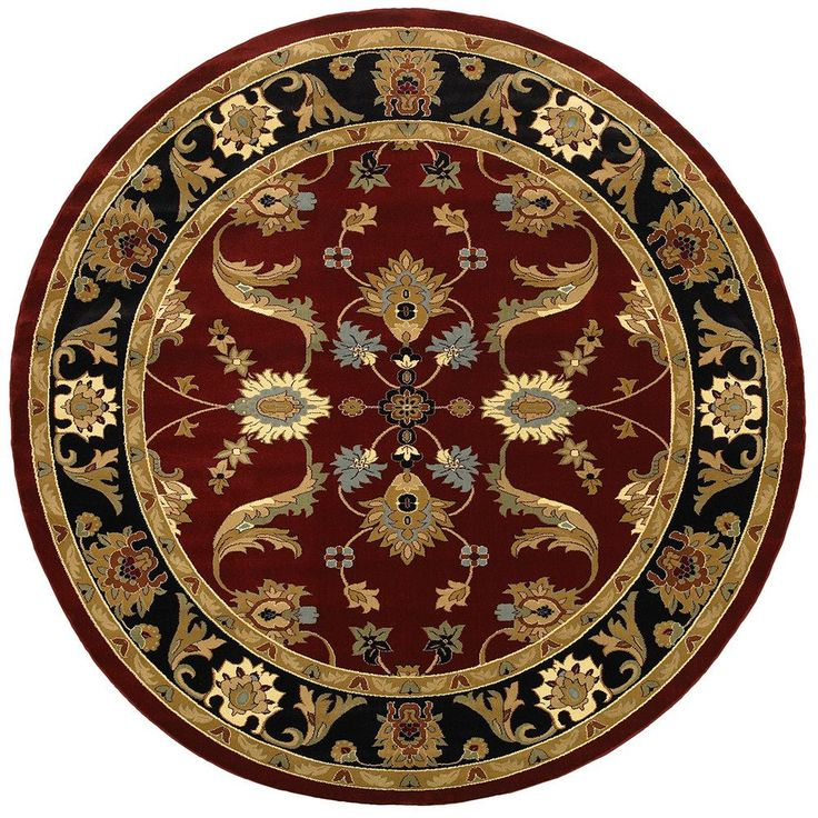 LNR Home Adana Red/ Black Oriental Rug (6'2 Round) - Overstock™ Shopping - Great Deals on LNR Round/Oval/Square