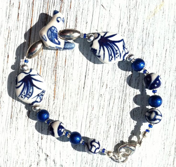 A110 - Ceramic, pearls and Sterling Silver
