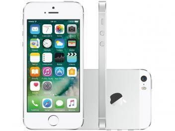 """iPhone 5s Apple 16GB Prata 4G Tela 4"""" Retina - Câmera 8MP iOS 10 Proc. M7 Touch ID 20/01 iPhone 5s Apple 16GB Prata 4G Tela 4"""" Retina - Câmera 8MP iOS 10 Proc. M7 Touch ID Bivolt R$ 1.699,90  em até 10x de R$ 169,99 sem juros no cartão de crédito  ou R$ 1.580,91 à vista (6% Desc. já calculado.) Clique aqui e aproveite!"""