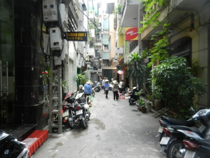 The Old Quarter in Hanoi, Vietnam. This is the street where we lived for the first month after we moved to Vietnam, in the Splendid Jupiter Hotel.