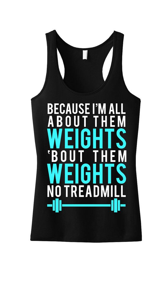 All About Them WEIGHTS Workout Tank Workout by NobullWomanApparel