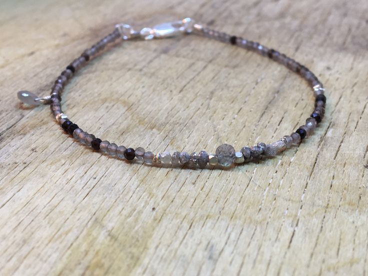 A personal favourite from my Etsy shop https://www.etsy.com/no-en/listing/560689190/rough-diamond-bracelet-black-rutile