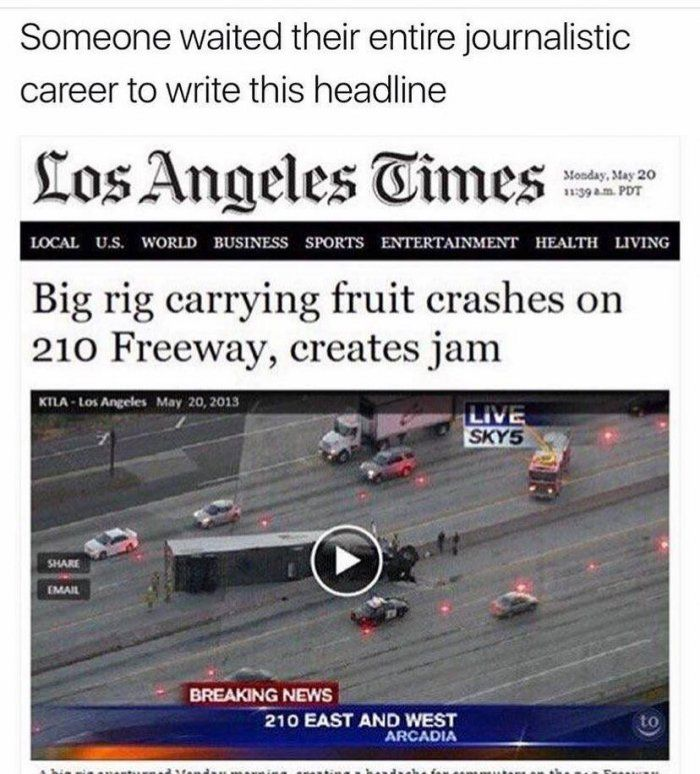 Funny news headline