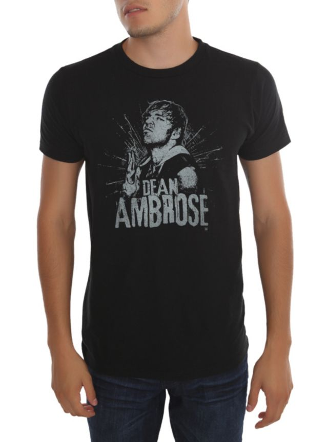 Officially licensed WWE T-shirt with faded style Dean Ambrose design.