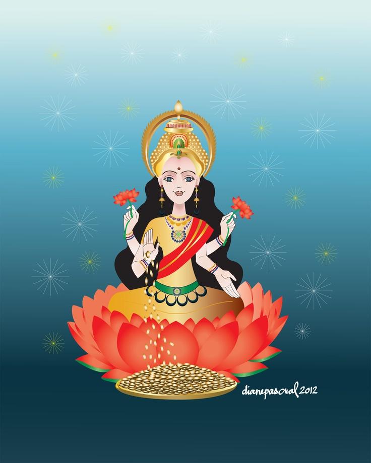 134 best Lakshmi images on Pinterest   Hindu art, Hindus ...